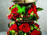Slavnostní květinová dekorace