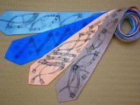 Malované hedvábné kravaty