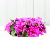 Růžová dekorace na stůl