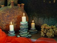 Kamenné svícny