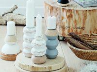 Elegantní dřevěné svícny