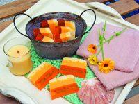 Tříbarevná mýdla