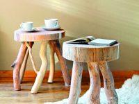 Dřevěné stolečky