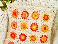 Polštář se slunečnicemi