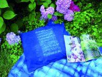 Batika šibori – mokume  – batikovaný polštář
