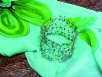 Háčkování z drátku – náramek s korálky