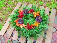Stálezelený podzimní věnec