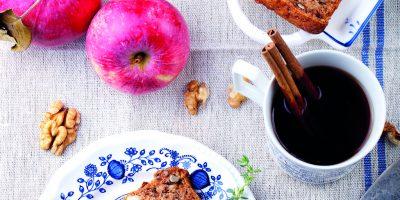 Jablečný chlebíček s ořechy