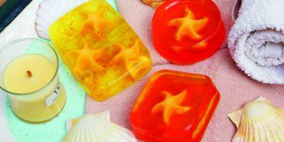 Průhledné mýdlo z mýdlové hmoty
