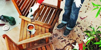 Jarní ošetření dřevěného zahradního nábytku