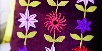 Květinový polštář