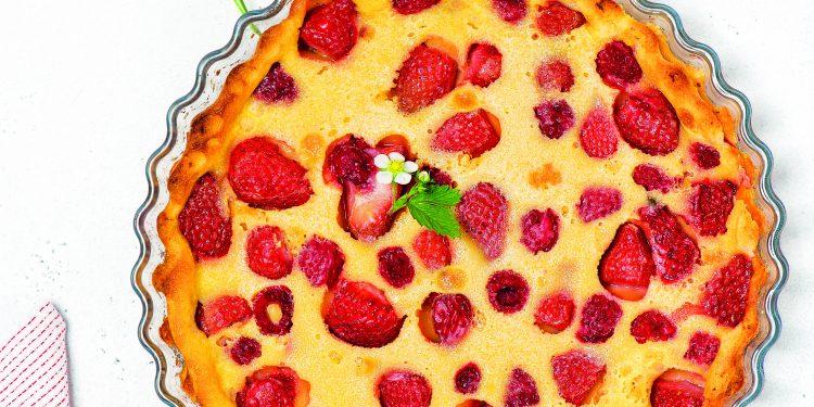 Francouzský jahodový koláč