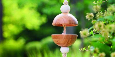 Krmítko z bambusových misek