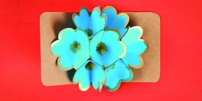 Trojrozměrné květinové přáníčko
